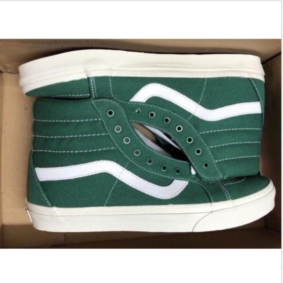 5218606257 Vans Sk8 Hi Reissue 10oz Canvas Verdant Green Shoe